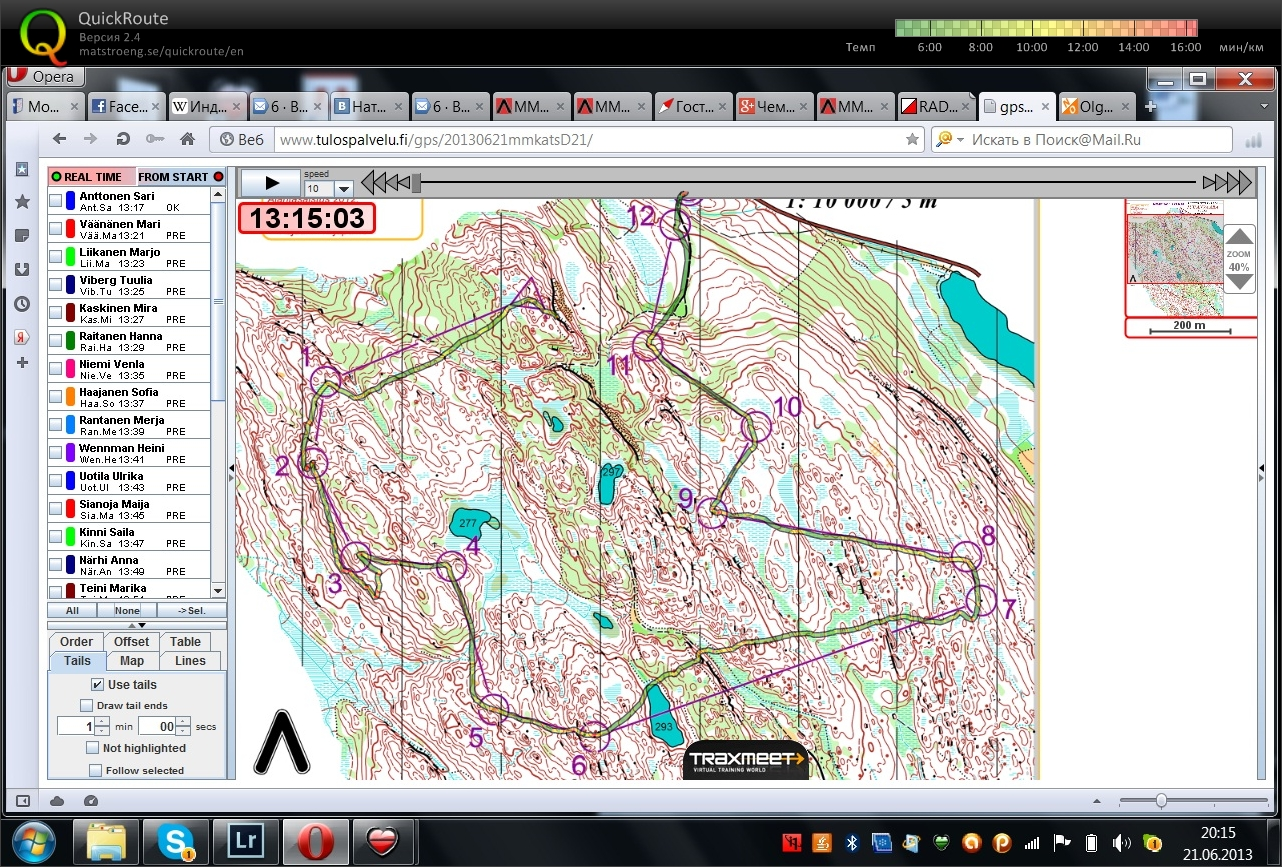 WOC2013 Selection competitions (21/06/2013)