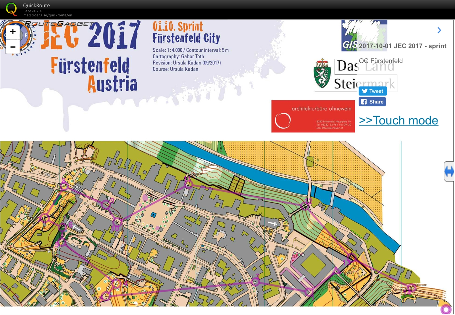 Junior European Cup 2017, sprint (01/10/2017)